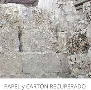 rua papel productos reciclados papel y cartón recuperado destacado con titulo castellano escritorio