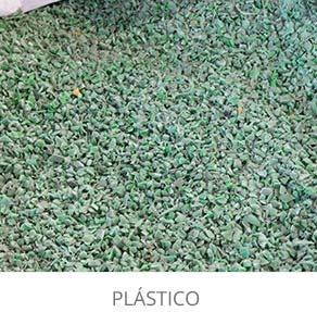 rua papel producto plástico triturado verde destacado con titulo escritorio castellano