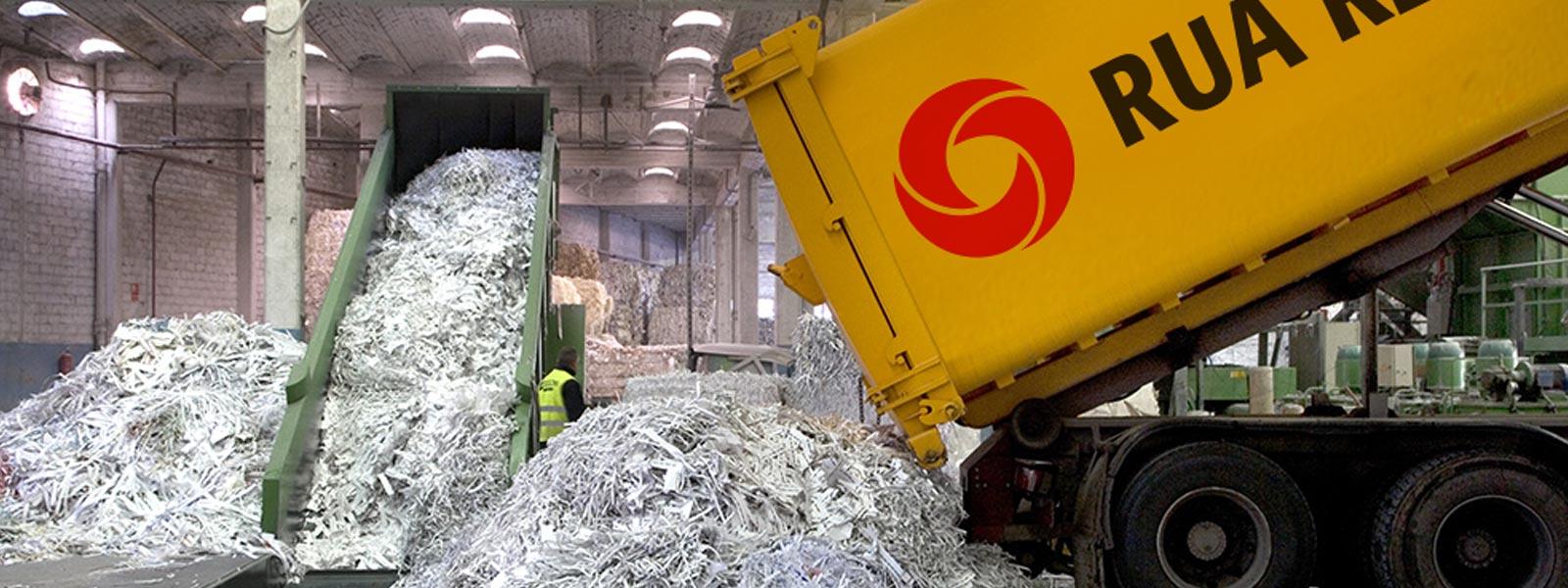 Rua papel instalaciones reciclaje papel slide gestión y valorización de residuos objetivo residuo cero