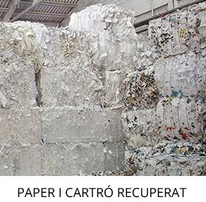 rua papel productos reciclados papel y cartón recuperado destacado con titulo catalán escritorio