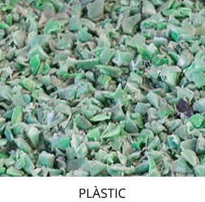 rua papel producto plástico triturado verde destacado con titulo escritorio catalan